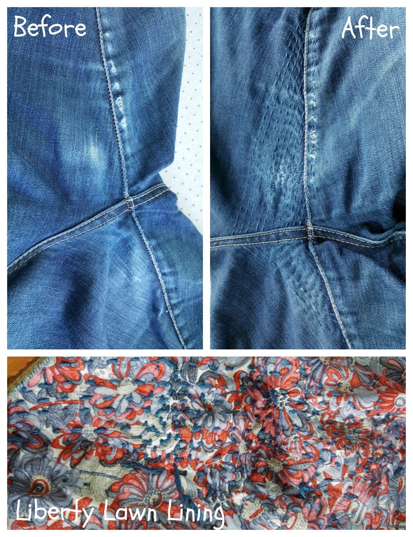 repair torn jeans