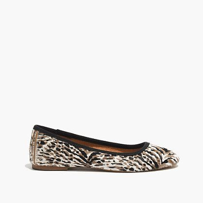 Madewell - The Sylvie Ballet Flat in Calf Hair