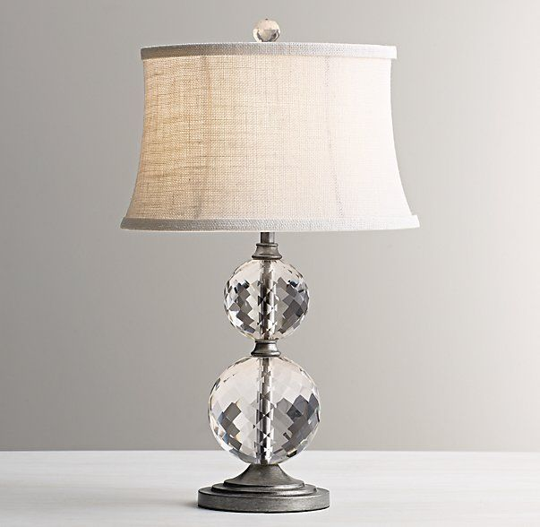 Silas room lourdes stacked crystal ball table lamp base