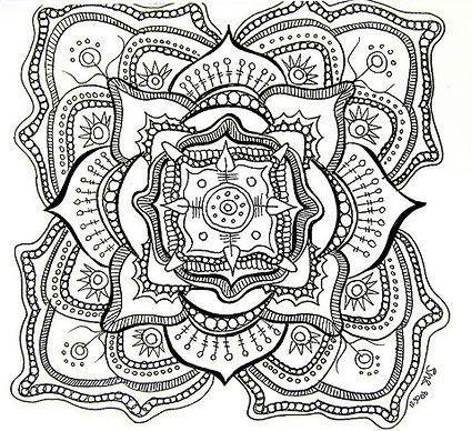 Chakra mandala coloring page