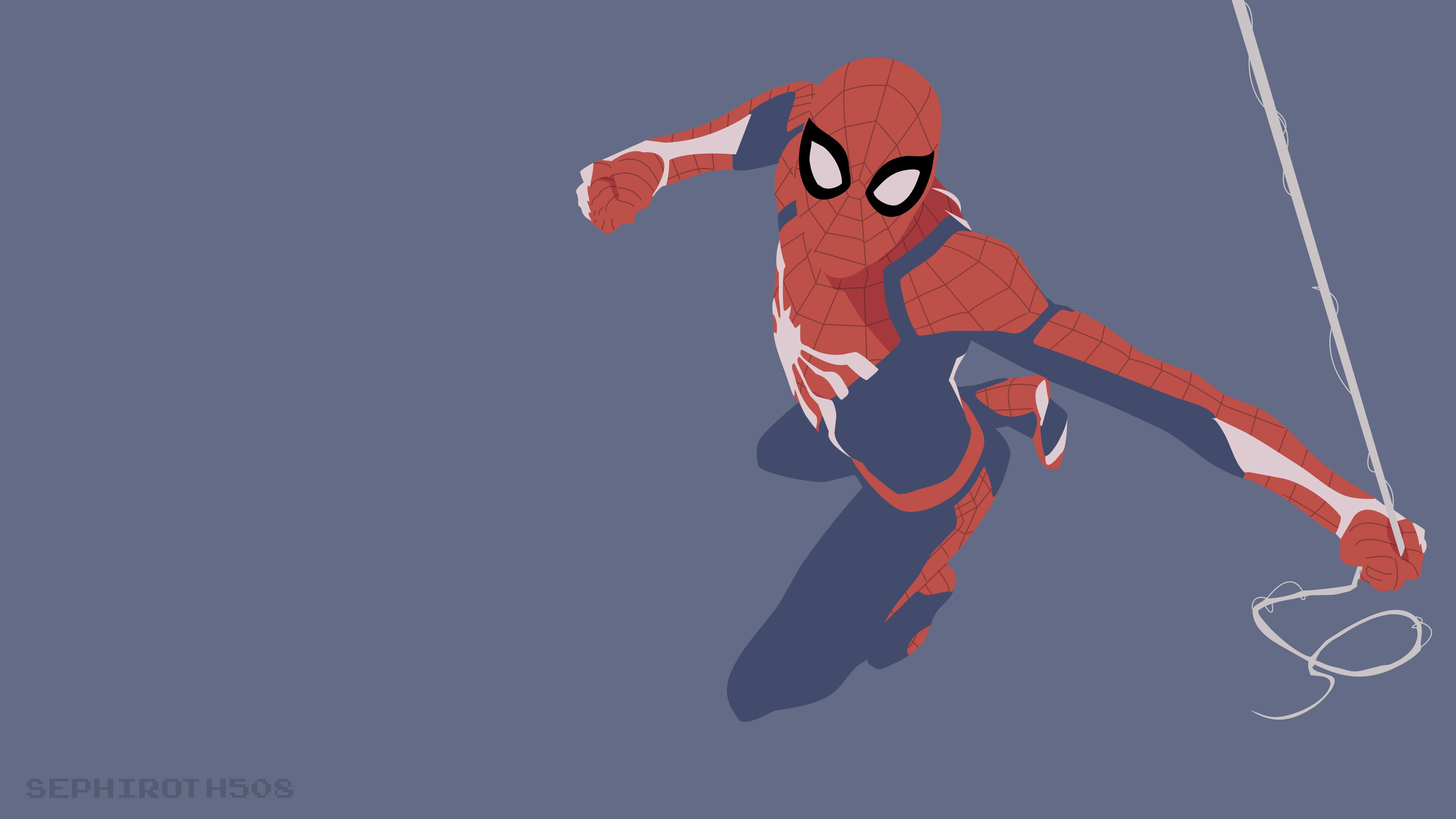 Spiderman Ps4 Minimalist Superheroes Wallpapers Spiderman Wallpapers Hd Wallpapers Deviantart Wallpapers Artwork Wall Spiderman Ps4 Spiderman Art Spiderman