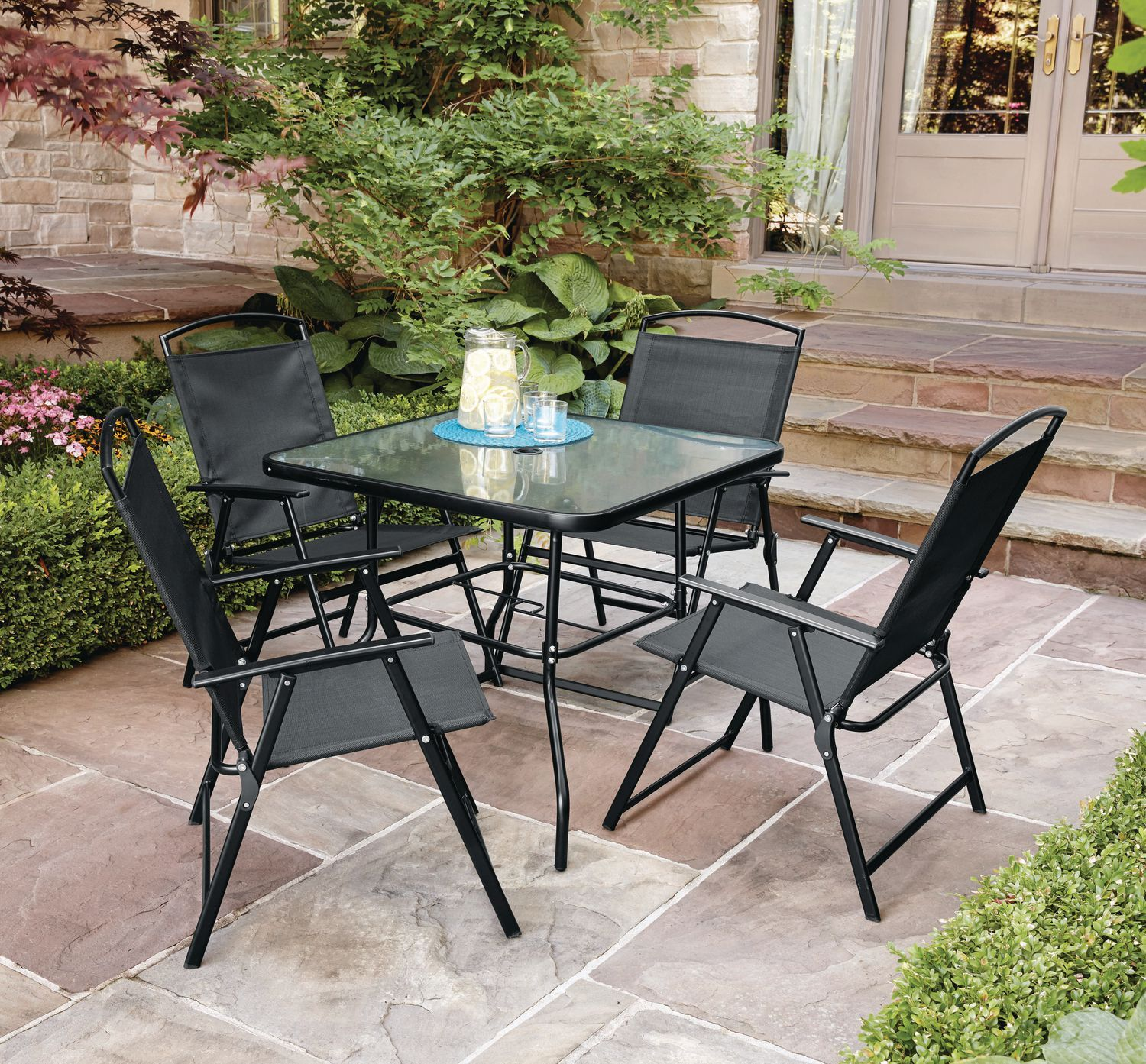 Glass Living Room Table Walmart In 2020 Patio Dining Table Patio Table Set Patio