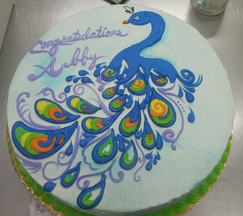 Calumet Bakery Peacock cake