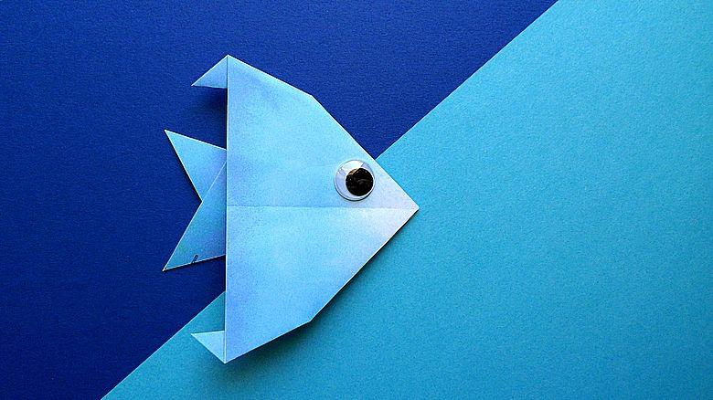 Peixe Nº 02 A Pequena Variacao Origami Animais Marinhos