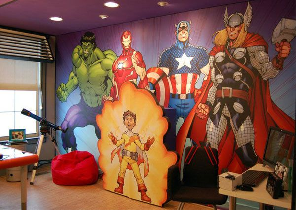 Superhero Wall Murals this avengers mural was featured in 'extreme makeover: home
