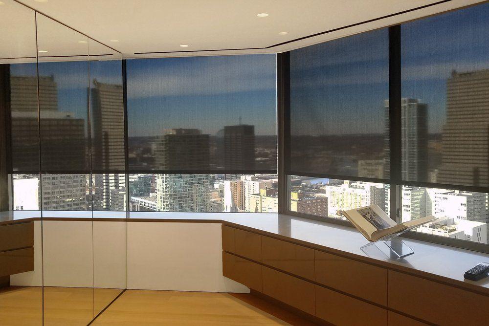 J Geiger Minimal In Ceiling Window Shades Motorized Window Shades Window Shades House Windows