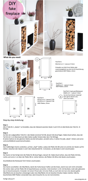 diy kaminkonsole selbst bauen interiors. Black Bedroom Furniture Sets. Home Design Ideas