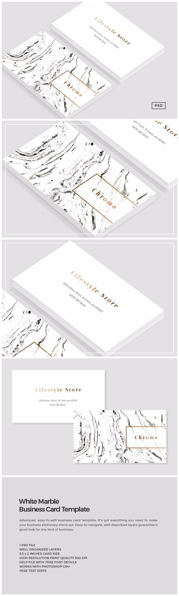 White marble copper business card httpscreativemarket white marble copper business card httpscreativemarketmeerag reheart Gallery