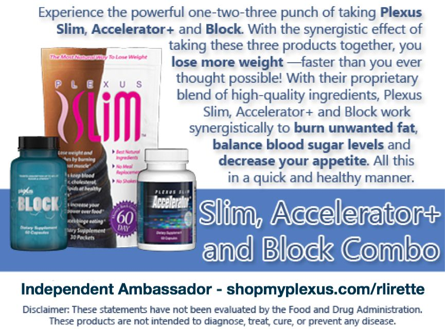 Experience The Powerful One Two Three Punch Of Taking Plexus Slim