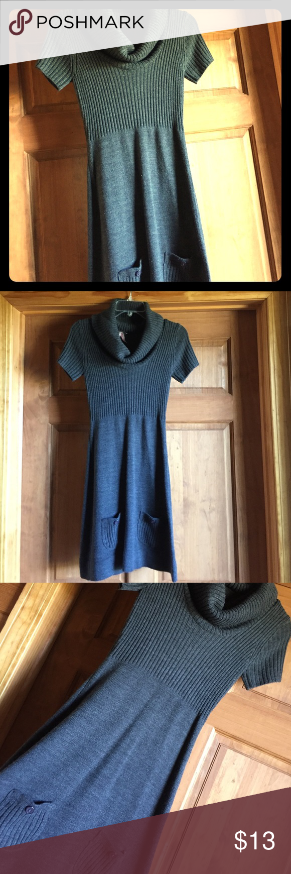 Sweater dress Dark gray sweater dress. Dresses
