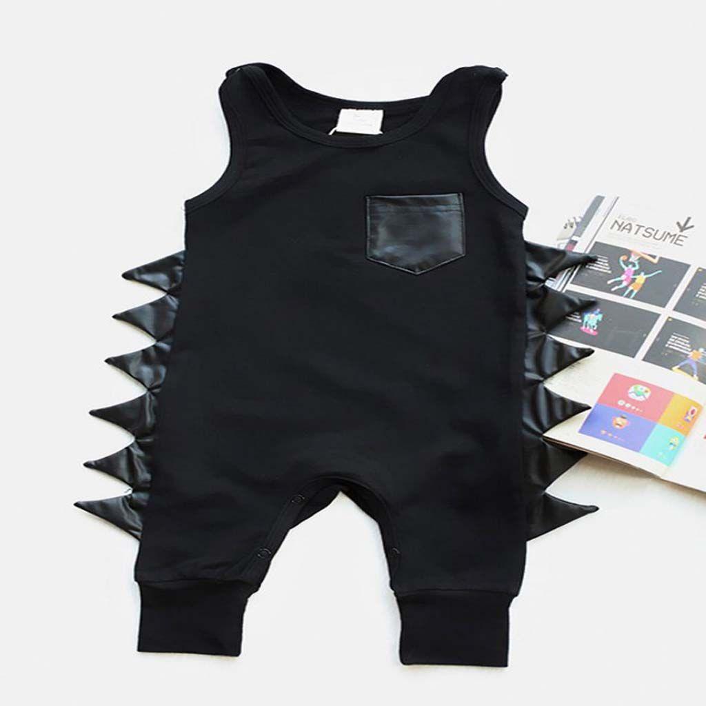 Infant Baby Boy Girl 3D Wings Bodysuit Romper Jumpsuit Playsuit Clothes Outfits