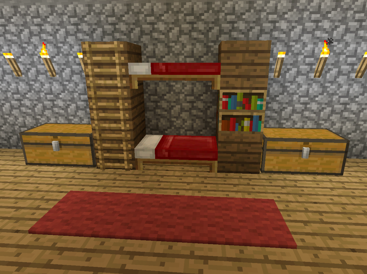 Regal Bauen Minecraft Minecraft Bunk Bed Furniture Minecraft Minec