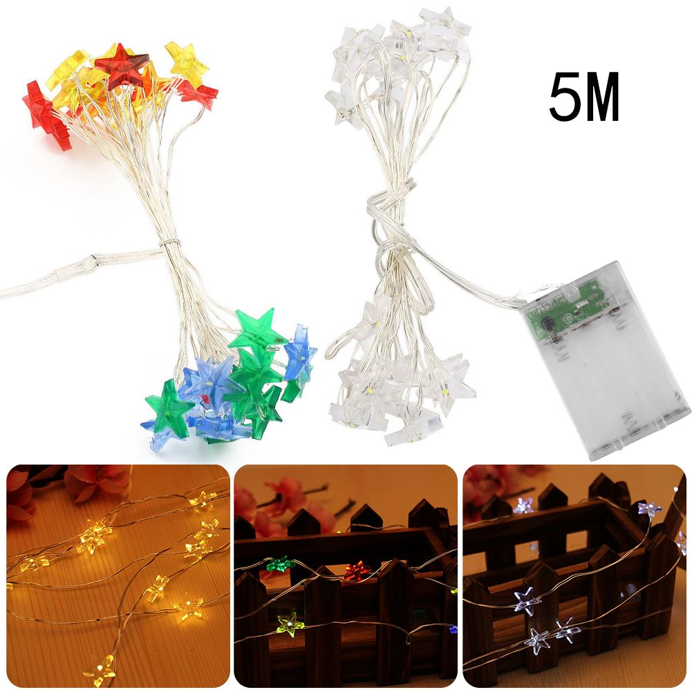 5M 50 LED star string Fairy Lights for wedding decorations Home ...