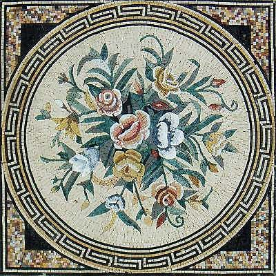 40-Handmade-Flower-Medallion-Square-Interior-Decor-Marble-Mosaic-Art-Tile-Stone