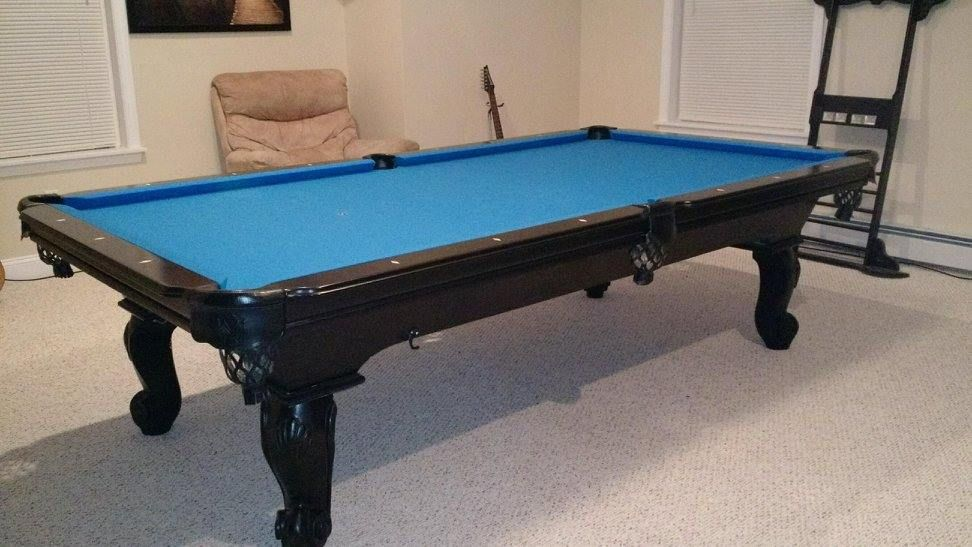 Connelly Catalina 2 pool table shown in black lacquer on