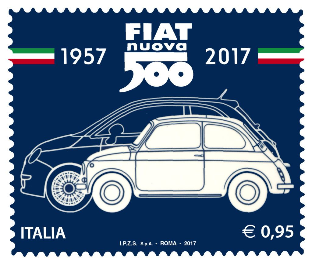 Fiat 500 Svelato Il Francobollo Celebrativo Del 60 Compleanno