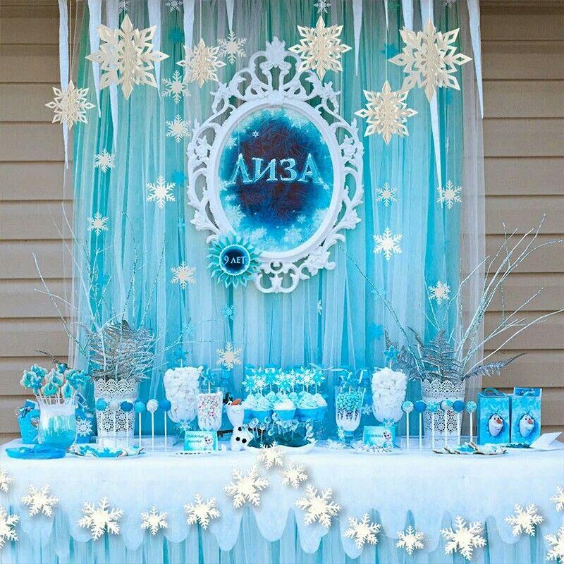 Pin By Tu Fiesta Ideal On Fiesta De Princesas Disney Frozen Birthday Party Blue Birthday Parties Frozen Birthday Theme