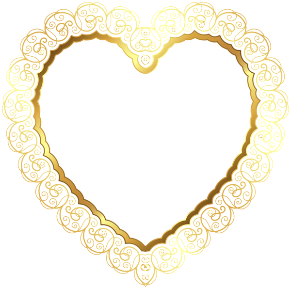18+ Gold heart outline clipart ideas in 2021