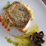 Corvina Sea Bass, Israeli Couscous, Dill Cucumber Vinaigrette
