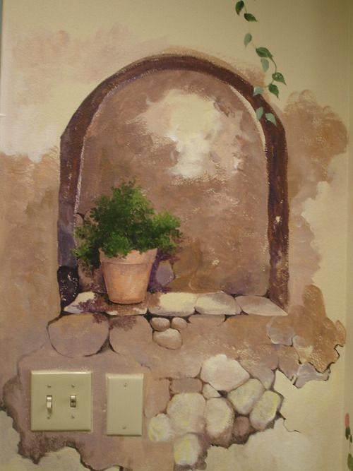 Stone Wall Niche Kevin S Mural Wall Ideas In 2019 Mural Painting Mural Art