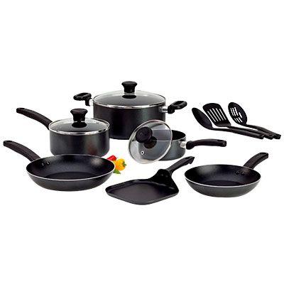 kitchen t fal royale 12 piece non stick cookware set at big lots black 60 watashi no. Black Bedroom Furniture Sets. Home Design Ideas