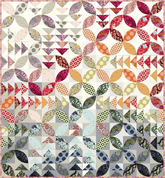 tutorial = Bird Seed quilt by Tula Pink for Bernina | Quilts, Quilts ...