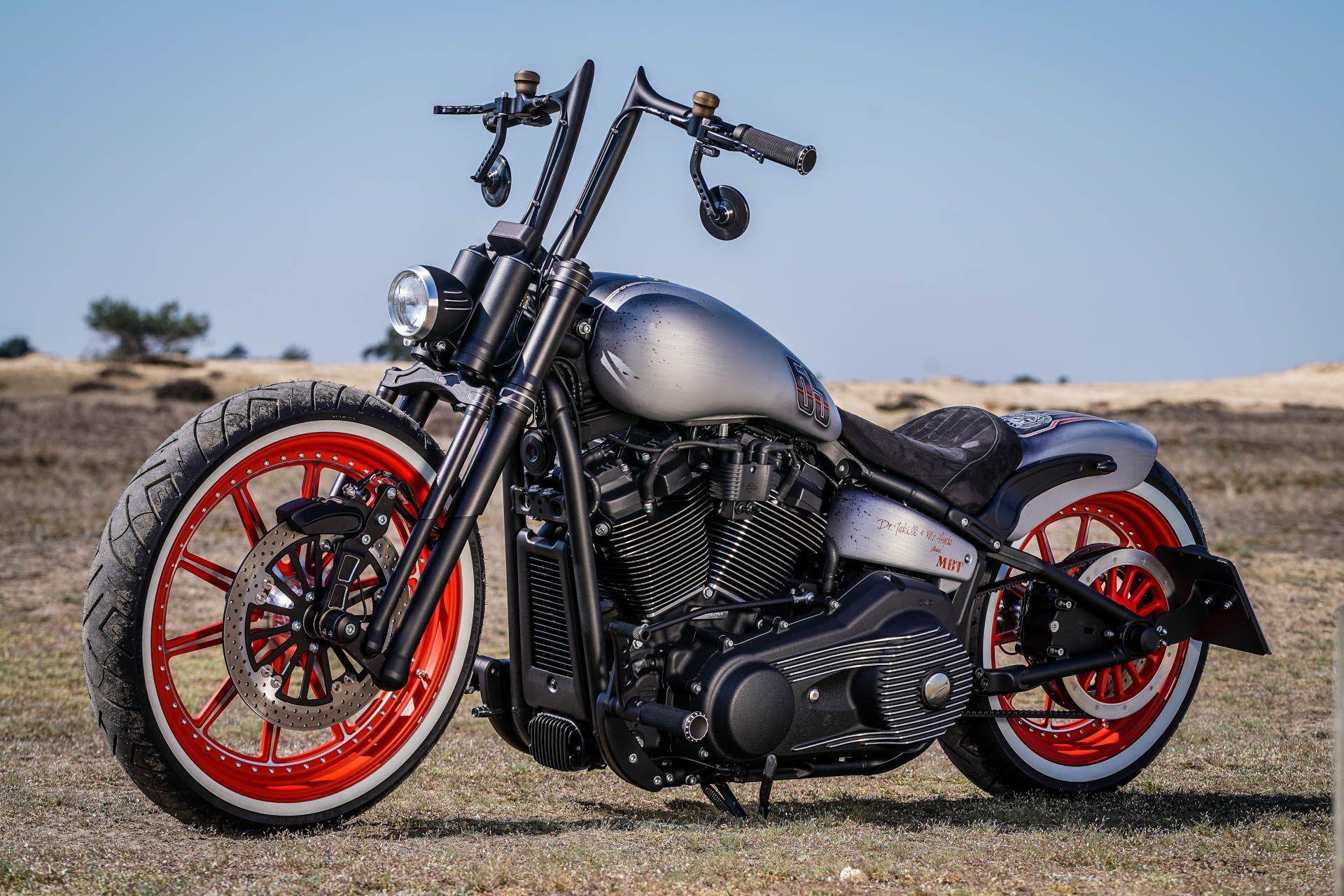 Harley Davidson Street Bob Custom Red Wheel Mbt Motocikl Harlem Moti