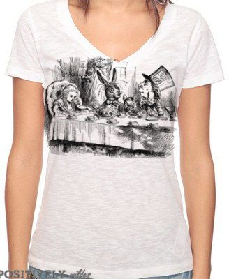 MAD HATTER TEA PARTY Woman T-shirt Lewis Carroll Alice in Wonderland
