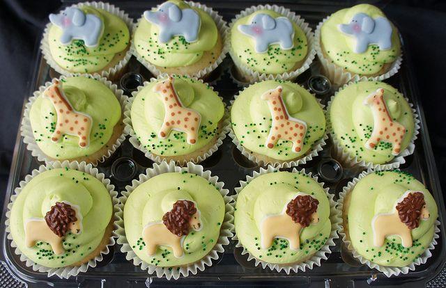 Safari Baby Shower Cupcakes Baby Shower Cupcakes Baby Shower