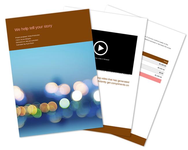 Video Production Proposal Template Video Production Pinterest