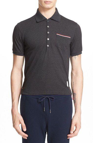 5609fb1a8 THOM BROWNE Mercerized Cotton Piqué Polo.  thombrowne  cloth   Polo Shirts