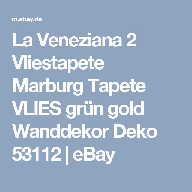 La Veneziana 2 Vliestapete Marburg Tapete VLIES Grün Gold Wanddekor Deko  53112 | EBay
