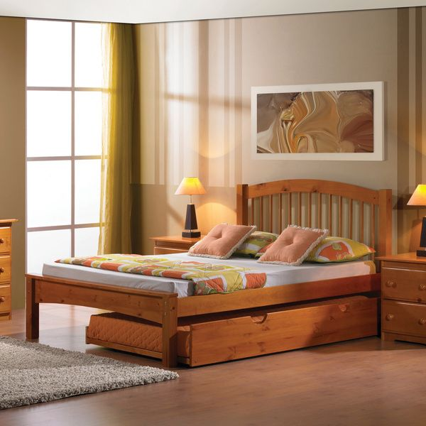 Arch Spindle Bed with Optional Twin Trundle - Overstock™ Shopping - Great Deals on Donco Kids Kids' Beds