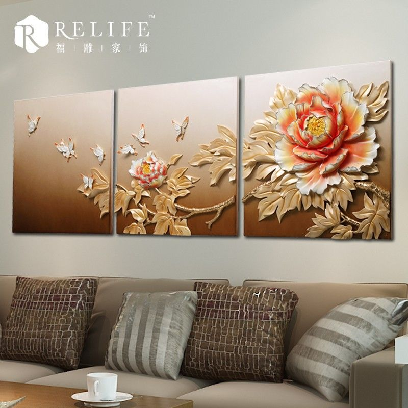 3d relief home decors 3d oil painting on canvas find for Cn mural designs
