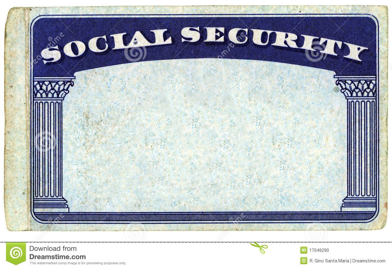 Blank American Social Security Card Stock Photo Image Of Inside Social Security Card Template Pdf Social Security Card Card Templates Free Id Card Template Social security card template download