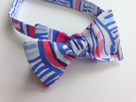 597958117fa3 Lilly Pulitzer Red Right Return Fabric Bow Tie by mercystreams | BOW ...