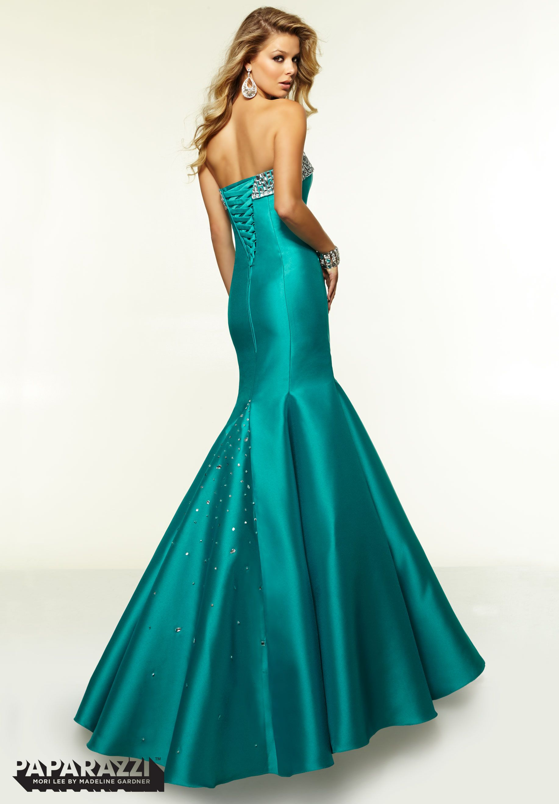 Prom Dresses / Gowns Style 97111: Larissa Satin with Crystal Beading ...
