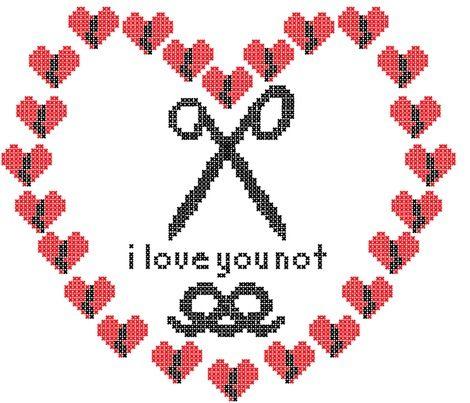 Do we all love Valentines? Some great 'anti' valentine's designs @Spoonflower #love #valentine's #red #heart