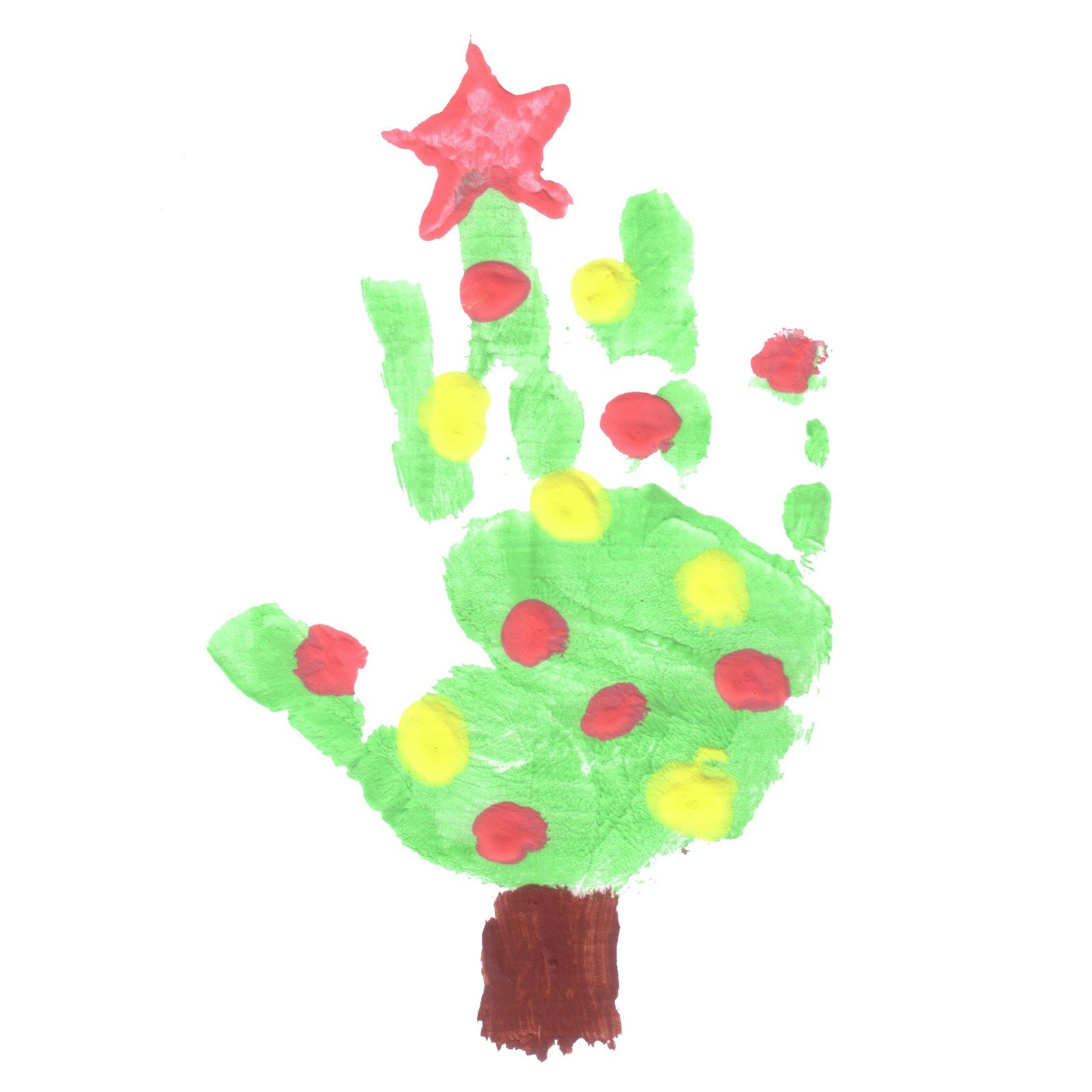 card - for the aunts and uncles  Preschool christmas, Handprint