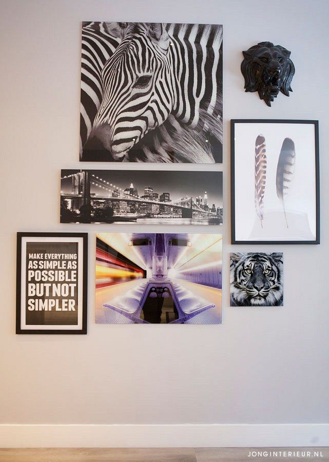 styling wanddecoratie schilderij collage
