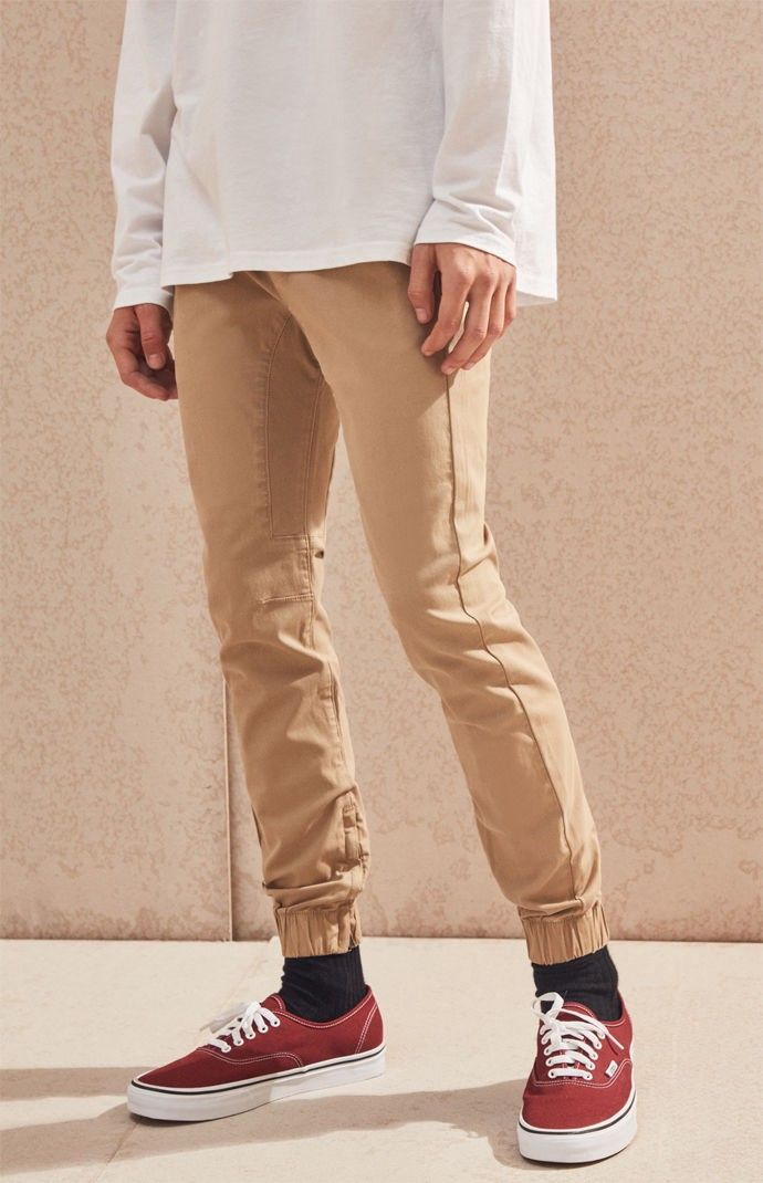 df9383c6ad1a32 PacSun Skinny 2.0 Khaki Jogger Pants by PacSun