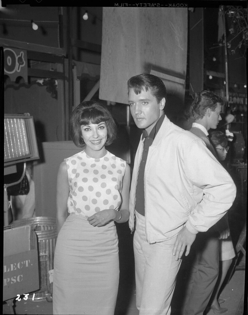 Elvis and Elsa Cardenas - (Co-Star of Fun In Acapulco) - On the set of  Roustabout - TCB⚡with TLC⚡
