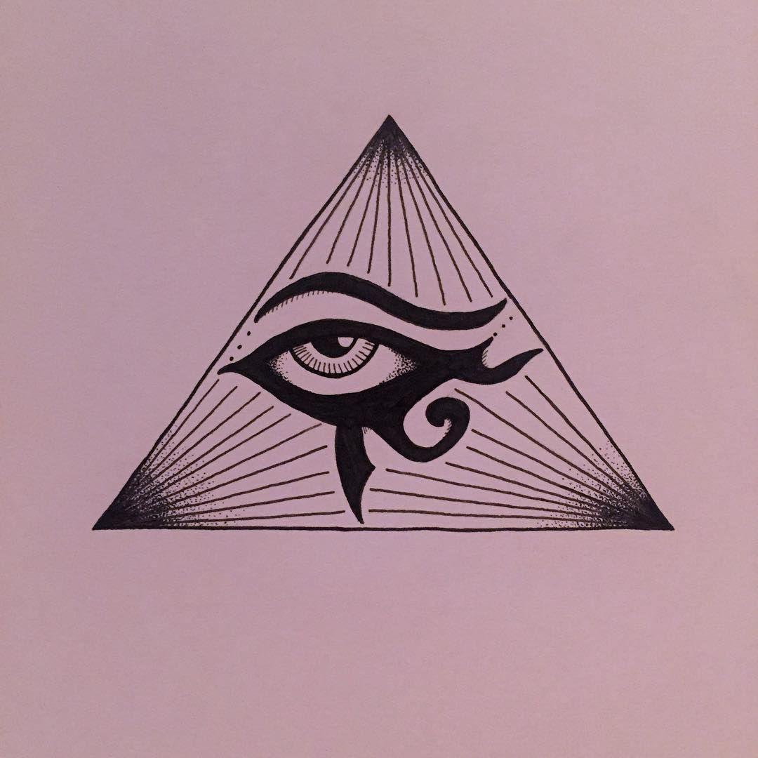 Drawings Simplified Version Of The All Seeing Eye