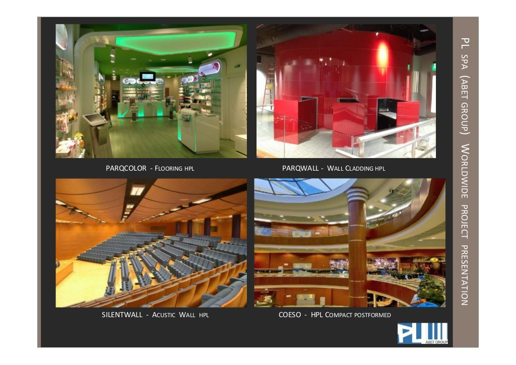 PL spa (abet group)   Worldwide Project Presentation (Parqcolor, Parqwall, Silentwall, Coeso)
