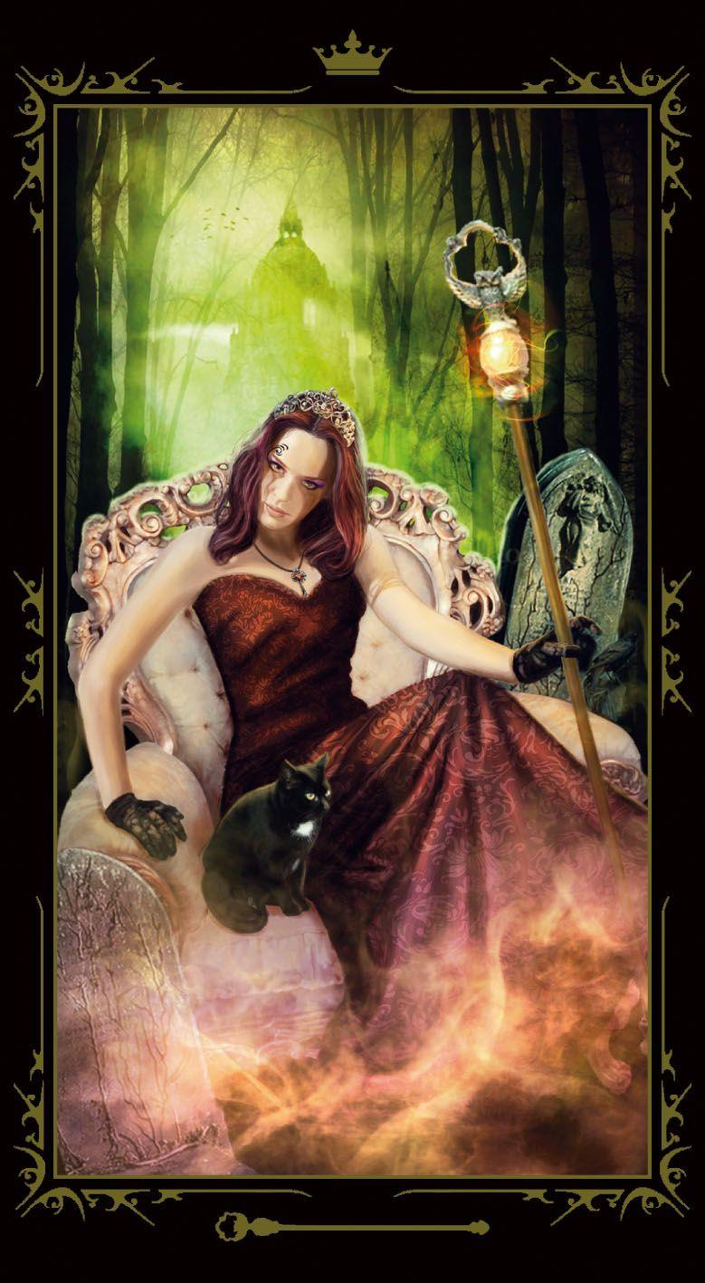 Queen Of Wands - Dark Fairytale Tarot