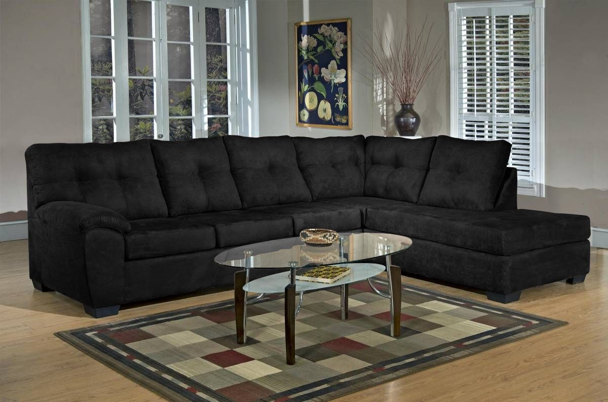 Sectional Sofa W/Chaise Shown In U0027Bulldozeru0027 Black Also Available In  Graphite,