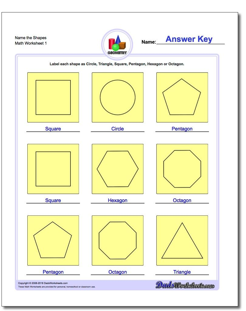 Basic Geometry This Page Contains Links To Free Math Worksheets For Basic Geometry Problems B Basic Geometry Shapes Worksheets Shapes Worksheet Kindergarten