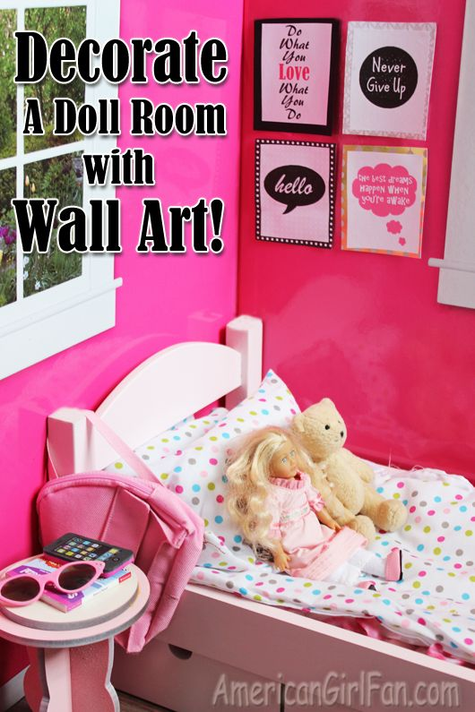 Doll Craft: Decorate Your Doll's Room With Wall Art (And ... on