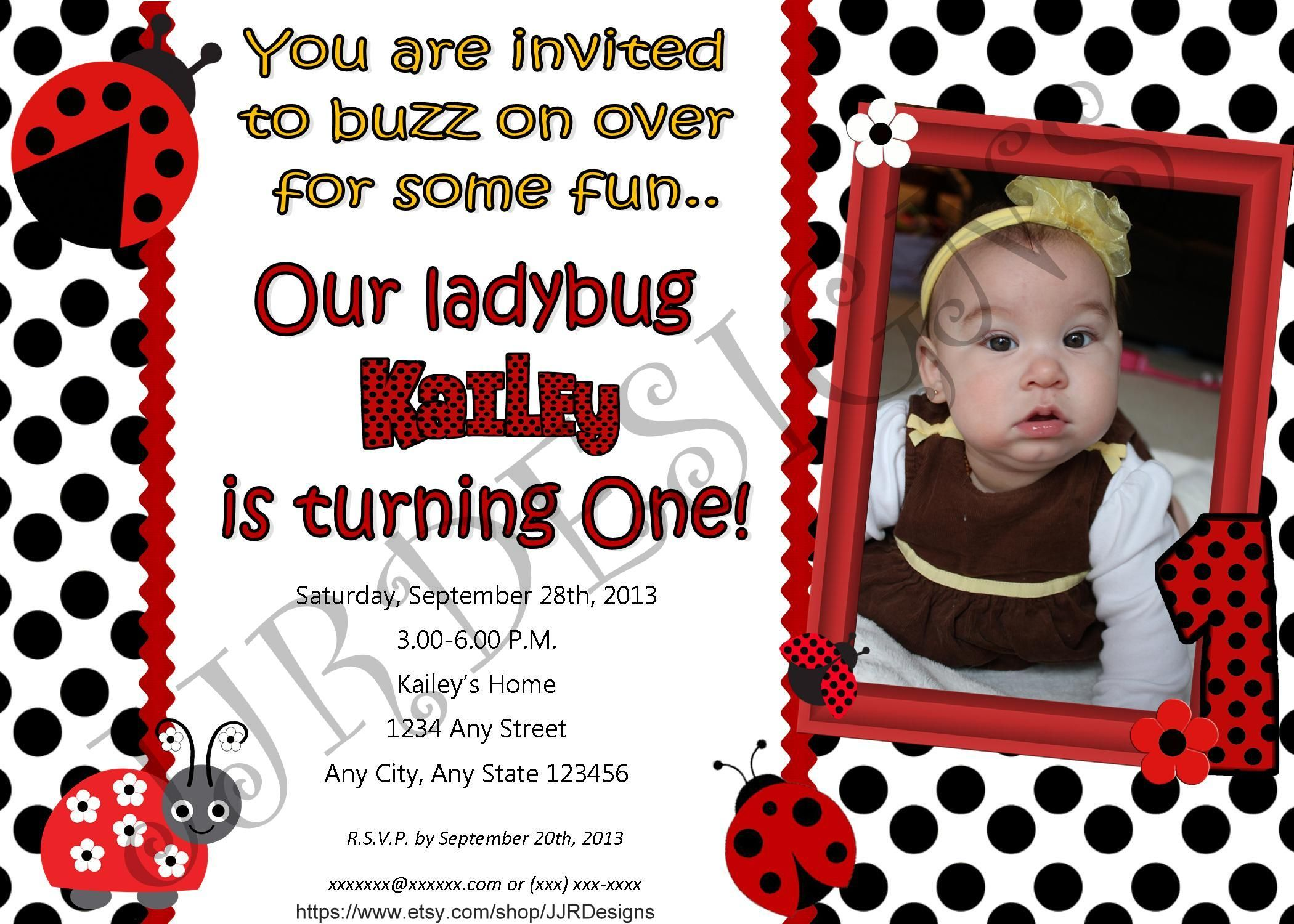 Ladybug Party Invitation | Lady Bug | Pinterest | Ladybird, Party ...