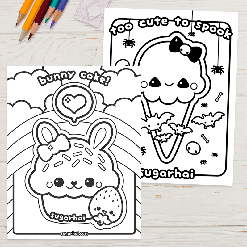 Free Kawaii Colouring Pages And Printables Super Cute Kawaii Cute Coloring Pages Cat Coloring Page Hello Kitty Coloring